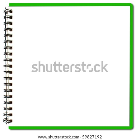 green sketch book - stock photo