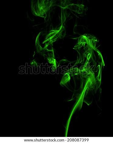 Green smoke. - stock photo