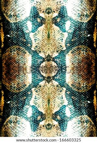 Green Snake Pattern - stock photo
