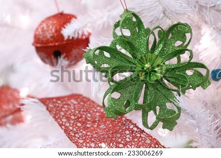 green snowflake - stock photo
