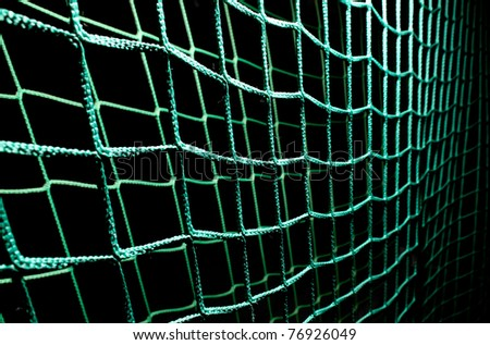 green soccer goal net - stock photo