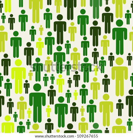 Green social media business people connection pattern over white background. - stock photo