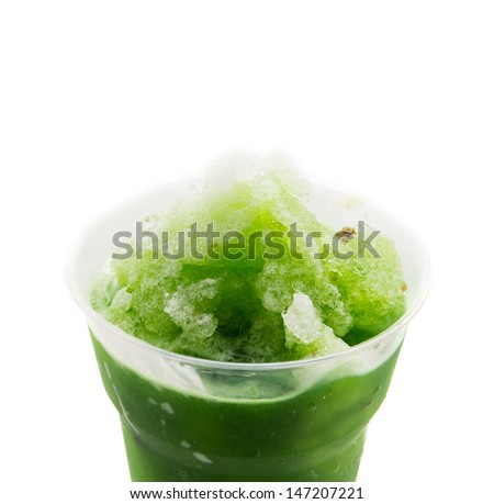 Green soda smoothie - stock photo