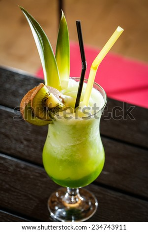 green soft drink - stock photo