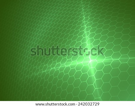 Green Solar Panel - Abstract Background - stock photo