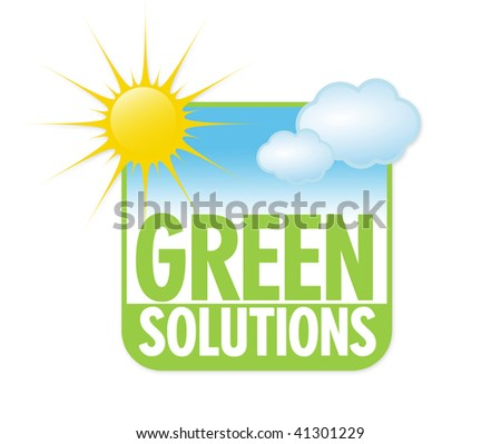 green solutions - stock photo