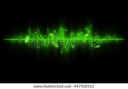 Green sound wave background.