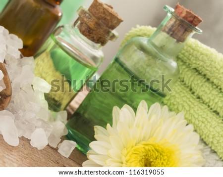 green spa - stock photo