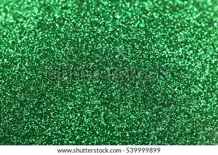 green sparkles close up, mackro