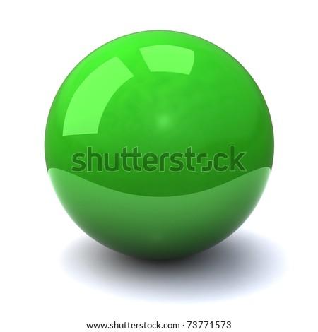 Green sphere - stock photo