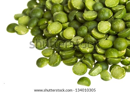 green split peas - stock photo