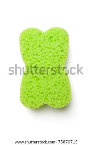 Green Sponge - stock photo