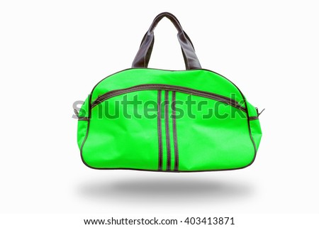Green sports bag,with clipping path - stock photo