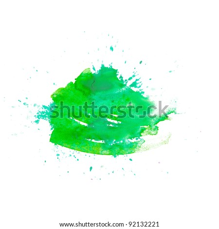 green spot blotch watercolor background isolated - stock photo