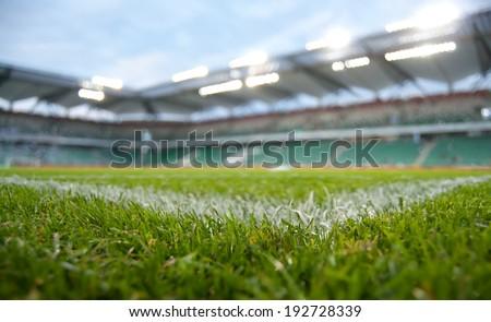 green stadium - stock photo