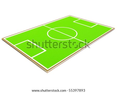 green stadium on white background isolated