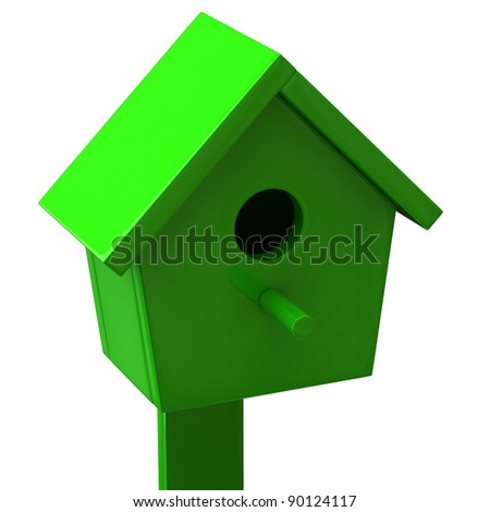 Green starling house - stock photo
