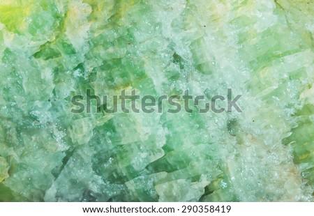 green stone mineral natural rock - stock photo