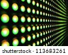 Green stretch of LED - stock photo