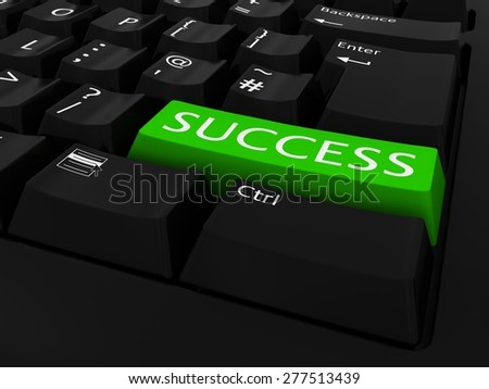 Green SUCCESS Key Keyboard Background