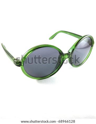 Green sun glasses - stock photo