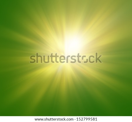 Green sunny background  - stock photo