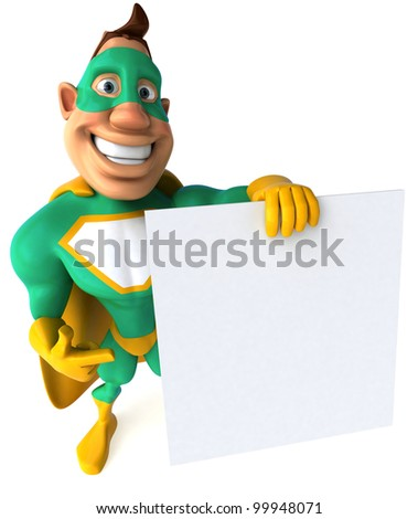 Green Superhero - stock photo