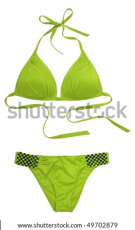 green swimsuit - stock photo
