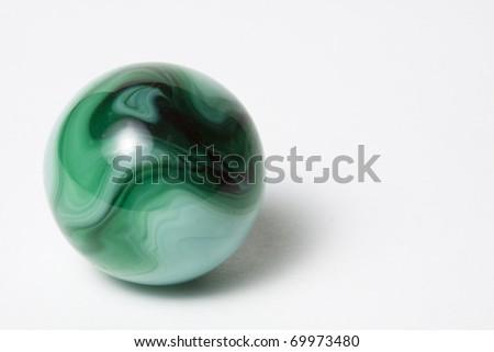 Green Swirl Marble - stock photo