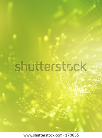 Green swirling background with a high-tech look.