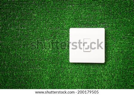Green switch, eco renewable save energy power - stock photo
