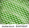 green table cloth - stock photo