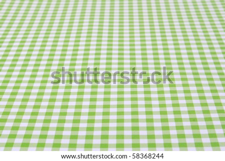 Green tablecloth - stock photo