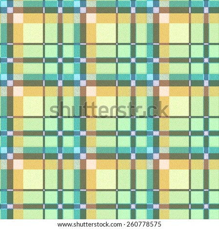 green tartan fabric seamless pattern