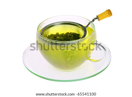 green tea - stock photo