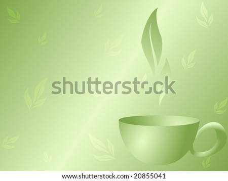 Green Tea background (JPG); a vector version is also available. - stock photo