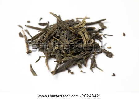 green tea isolated on white