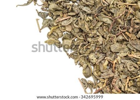 Green tea isolated on white background.  - stock photo
