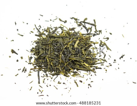 Green tea leaves (camella sinensis) from China - isolated