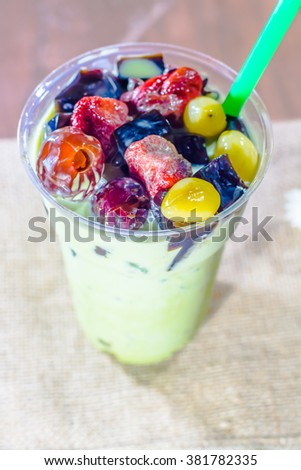 Green tea strawberry