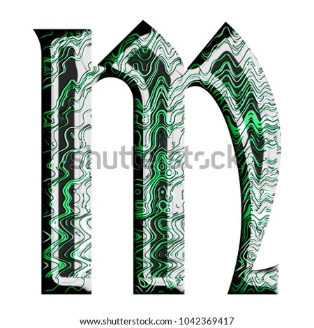 Green Tech Wires Metallic Style Uppercase Stock Illustration ...