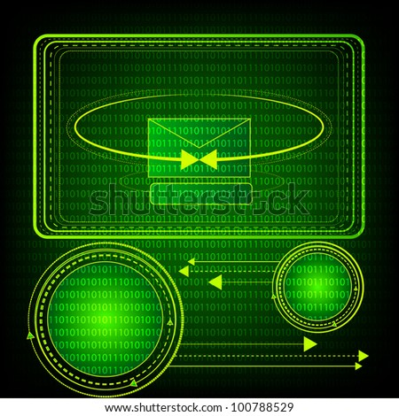 Green Technology Background. Eps Version Also Available In Gallery. - stock photo