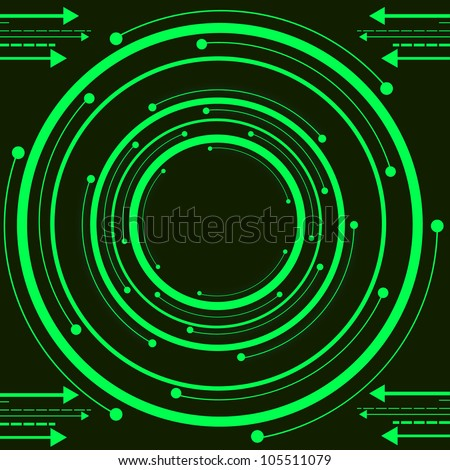 Green Technology. Eps Version Also Available In Gallery. - stock photo