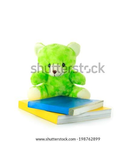 Green teddy bear - stock photo