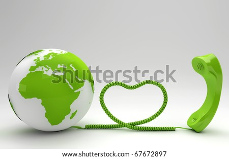 Green telco concept - stock photo