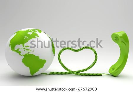 Green Telco Concept - stock photo