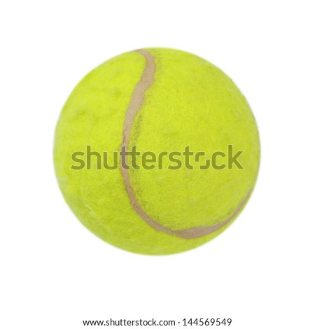 Green tennis balls on a white background