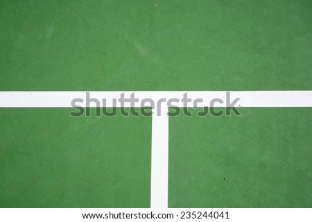 green tennis court surface, sport background - stock photo