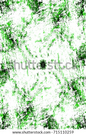 Green texture old distressed painted wall. Texture of old worn surface. Vintage dirty background. Art rough stylized texture banner, wallpaper. Backdrop with spots, cracks, dots, chips print or design