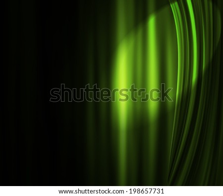 Green Theater Curtain Backdrop - stock photo